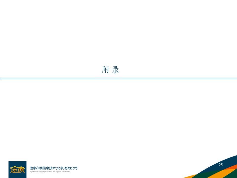 途家民宿A轮融资商业计划书PPT