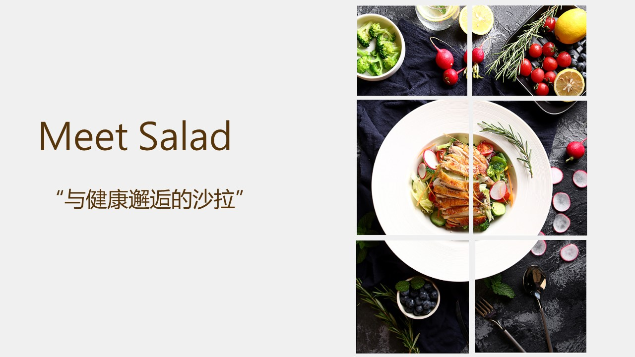 Meat salad轻食沙拉健康健身食品商业计划书范文-undefined